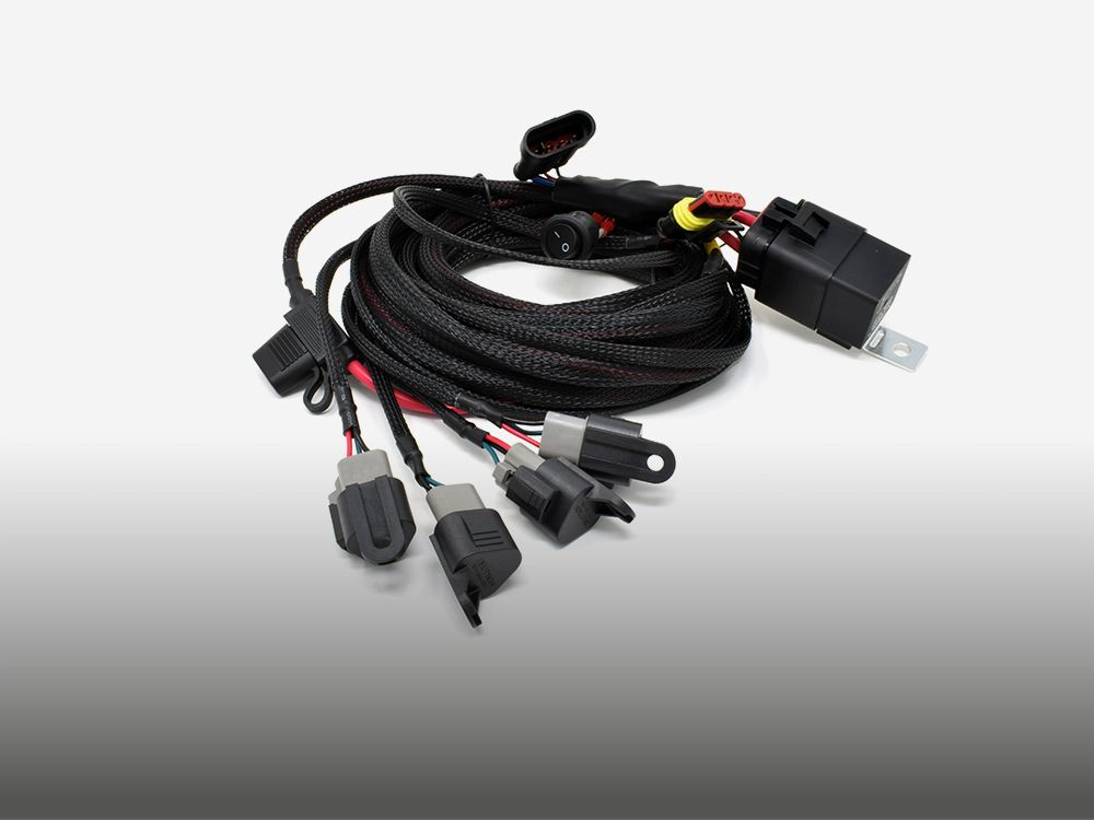 8234-12v-sw Four-Lamp 'Carbon' Wiring Kit with Switch