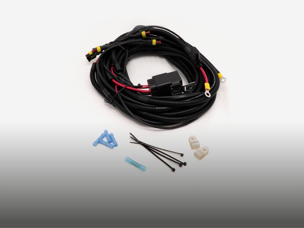 Four-Lamp Wiring Kit (Low Power, 12V) with Splice
