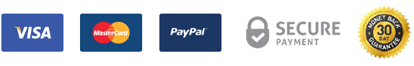 Paypal / Visa / Mastercard / Secure payment / 30 day money-back guarantee