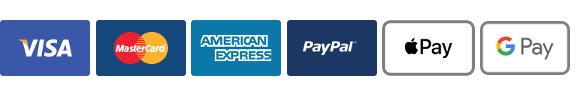 Paypal / Visa / Mastercard / Amex